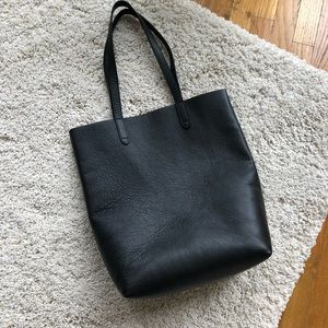 Cuyana Tall Structured Black Tote